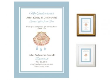 Gift for Godparents - Special Gifts From God (Blue)