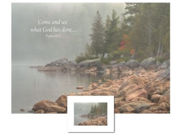 Inspirational Art - Come and See (Acadia)