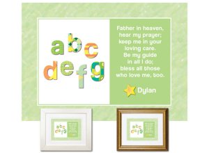 Children's Gift - ABCs Bedtime Prayer (green)