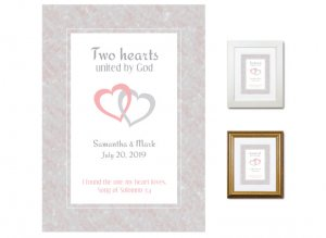 Wedding Gift - Two Hearts