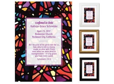 Confirmation Keepsake - Stained Glass (Plum, Multi)