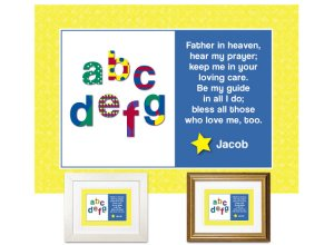 Children's Gift - ABCs Bedtime Prayer (primary colors)