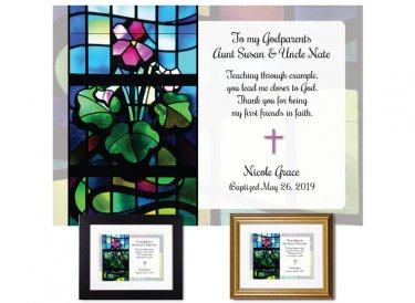 Gift for Godparents - Stained Glass (Floral 1)