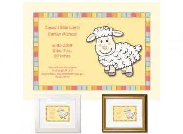 Personalized Gift for Newborn - Jesus Little Lamb
