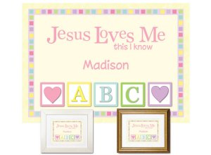 Personalized Plaque for Toddler - Jesus Loves Me