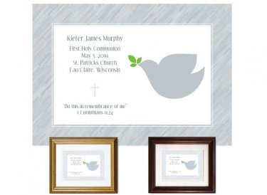 First Communion Gift - Dove (Grey)