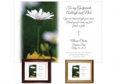 Personalized Gift for Godparents - Daisy