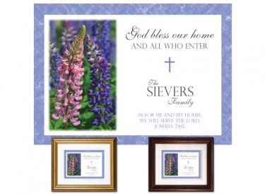Gifts for House & Home - God Bless Our Home (lupine)