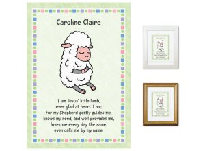 Children's Gift - Little Lamb (green)
