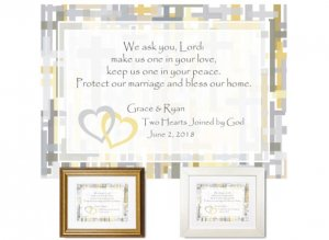 Personalized Wedding Keepsake - One in Your Love