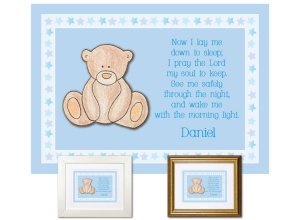 Children's Gift -Now I Lay Me Down - Teddy Bear (blue)