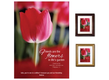 Personalized Friendship Gift - Tulip