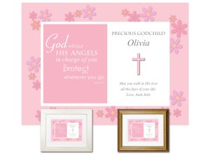 Gift for Godchild - Angels (pink)