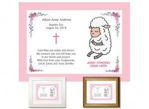 Gift for Godchild - Baptism Day (Pink)