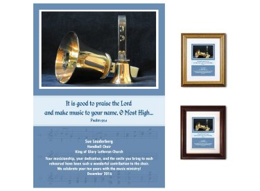 Musician Appreciation Plaque - Handbells