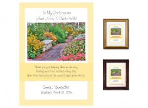 Gift for Godparents - Garden Path (yellow)
