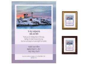 Gift for Godparents - Guidance (Nubble Light Pastels)