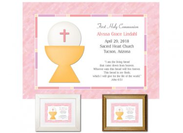 First Communion Gift - Living Bread (Pink)
