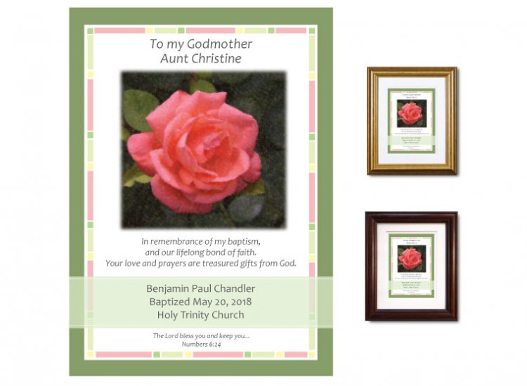 Gift for Godmother - Rose Personalized Gift for Godmother - Country ...
