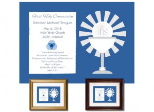 First Communion Gift - Sunburst (Blue)