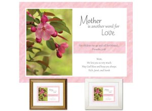 Gift for Mother - Another Word for Love (pink blossom)