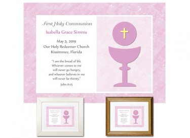 First Communion Gift - Keepsake (Pink)