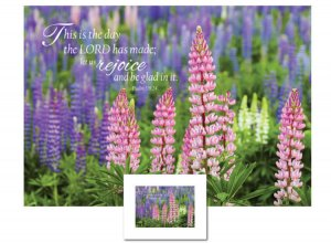 Inspirational Art - This is the Day (Lupines)
