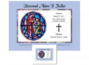 Clergy Ordination Gift - Stained Glass