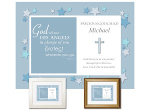 Gift for Godchild - Angels (blue)