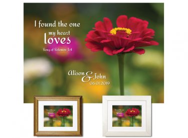 Wedding Gift - My Heart Loves (Zinnia)
