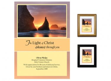 Personalized Service Appreciation - Light of Christ