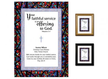Service Appreciation - Offering to God (stained glass)