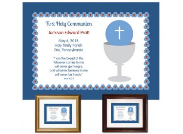 First Communion Gift - Bread of Life (Blue)