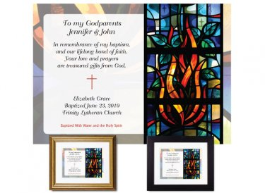 Gift for Godparents - Stained Glass (Fire)