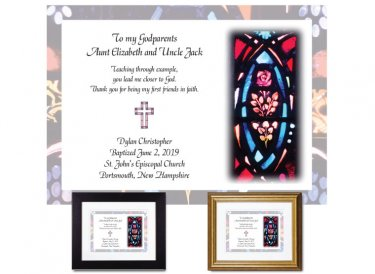 Gift for Godparents - Stained Glass (Floral 2)