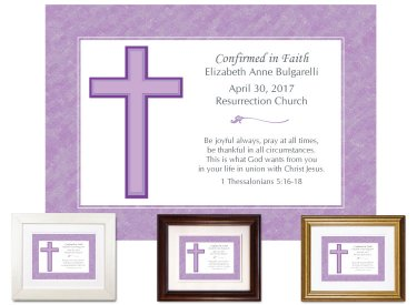 Confirmation Gift - Cross (purple)