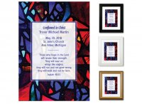 Confirmation Gift - Stained Glass (Blue, Multi)