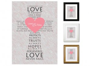Personalized Valentine's Day Keepsake - Love Never Fails