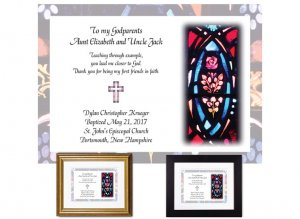 Personalized Keepsake for Godparents (Stained Glass)