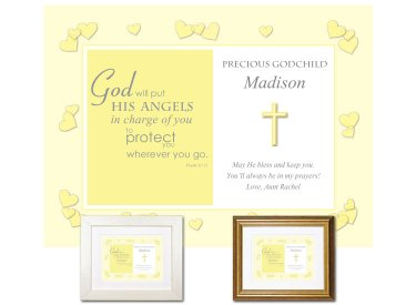 Gift for Godchild - Angels (yellow)