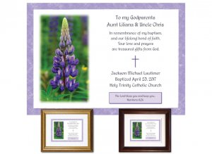Gift for Godparents - Lupine