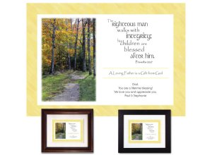 Personalized Father's Day Keepsake - A Righteous Man