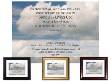 Service Appreciation - Letter From Christ (Clouds)