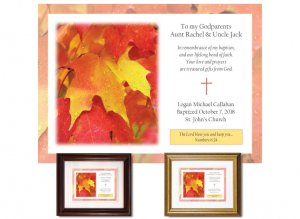 Gift for Godparents - Maple Leaf