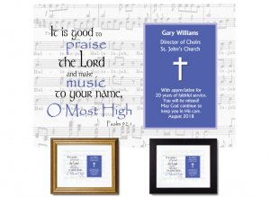 Personalized Musician Appreciation - Hallelujah