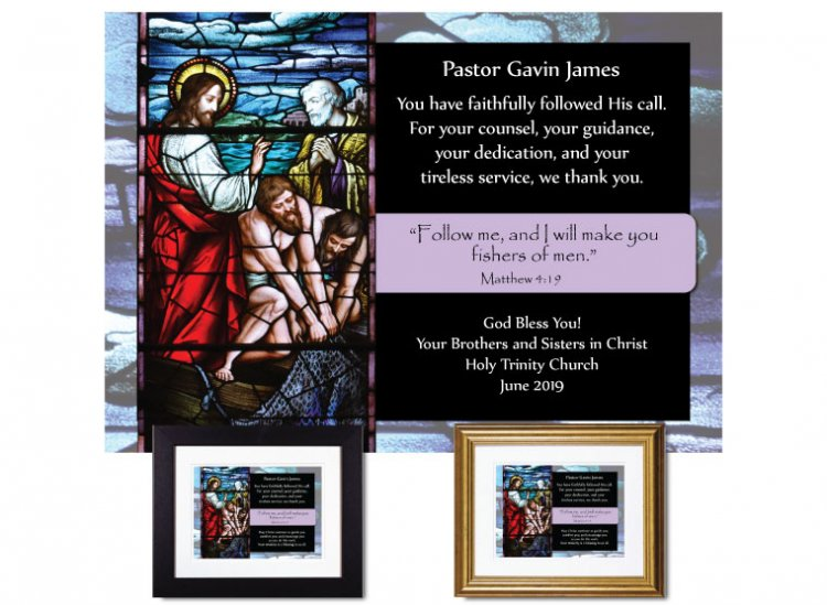 Pastor Appreciation Gift - Fishers of Men - Click Image to Close