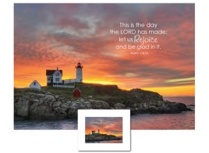 Inspirational Art - This is the Day (Lighthouse)