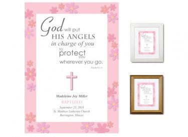 Personalized Baptism Gift - Angels