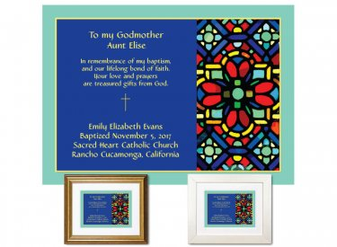 Gift for Godmother - Stained Glass Abstract