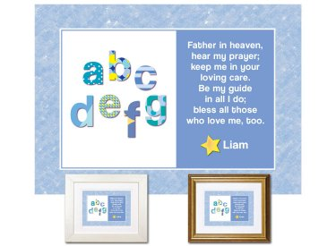 Children's Gift - ABCs Bedtime Prayer (blue)